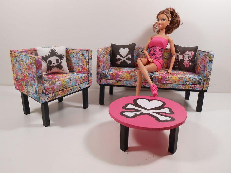 Great Barbie M bel M bel sets Hauseinrichtung Barbie Zeug Barbie House Wohnzimmer Sets Puppenh user Handarbeit Spielzeug Ma stab