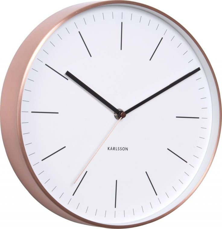Clock Minimal - Copper - White - Karlsson