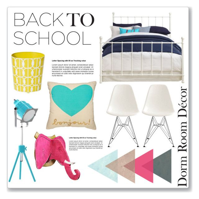 """Back to School: Dorm Room Decor"" by tennislover91 ❤ liked on Polyvore"