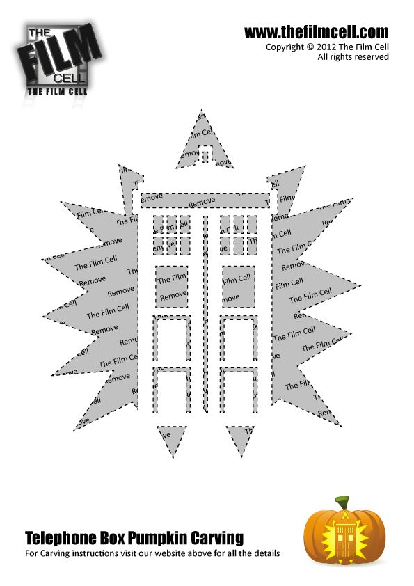 Dr Who Tardis Pumpkin Carving Template @Esme Gibbins Jimenez rudy I'd have a pumpkin if it was carved with this lol
