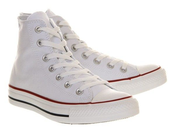Fashion P5I1W Converse Unisex All Star Hi - Optical White [Converse-UK-237] Outlet Store UK