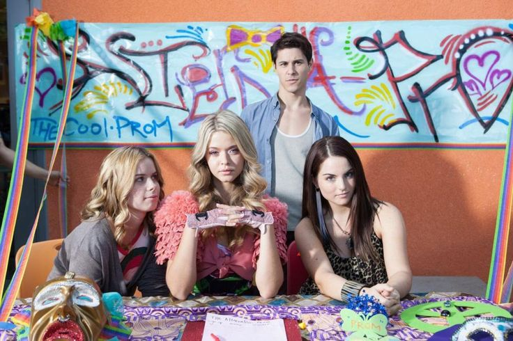 G.B.F., from left: Jessie Ennis, Sasha Pieterse, Michael J. Willett, Joanna 'JoJo' Levesque, 2013