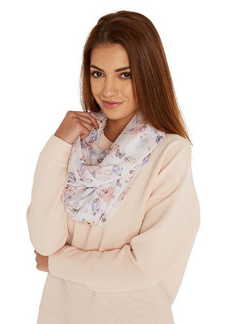 Tesco direct: F&F Butterfly Print Circle Scarf