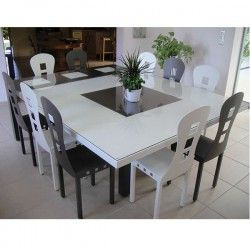 Superbe table carr e de salle manger fabrication artisanale fran aise en m - Table a manger carree ...