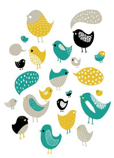 birdies screen print