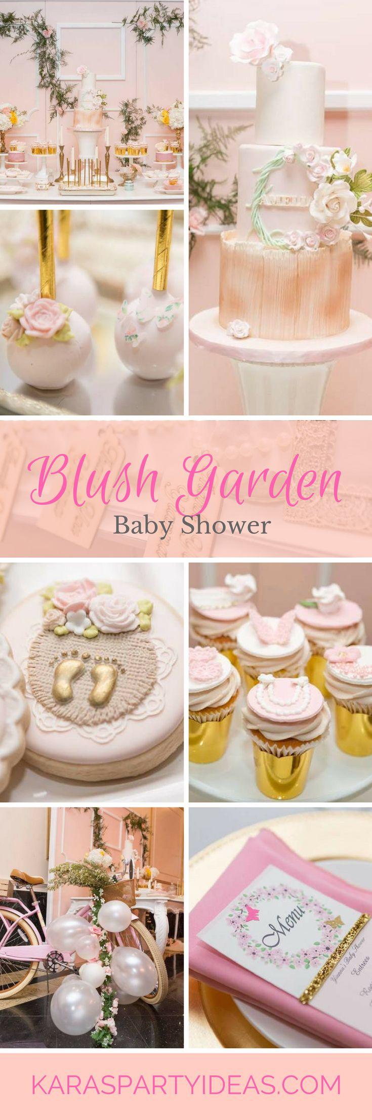 blush garden baby shower via karas party ideas