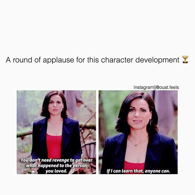 Regina's character development is one of the top reasons I watch this show!