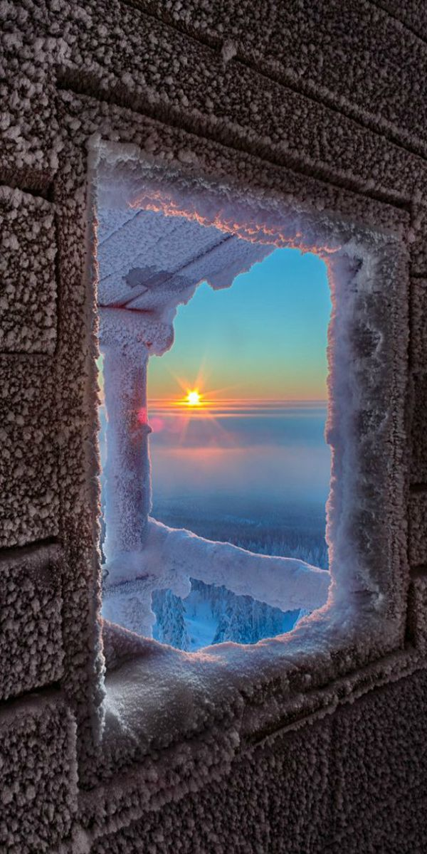 Frosty Sunrise ~ Lapland, Finland by Julius Rintamäki