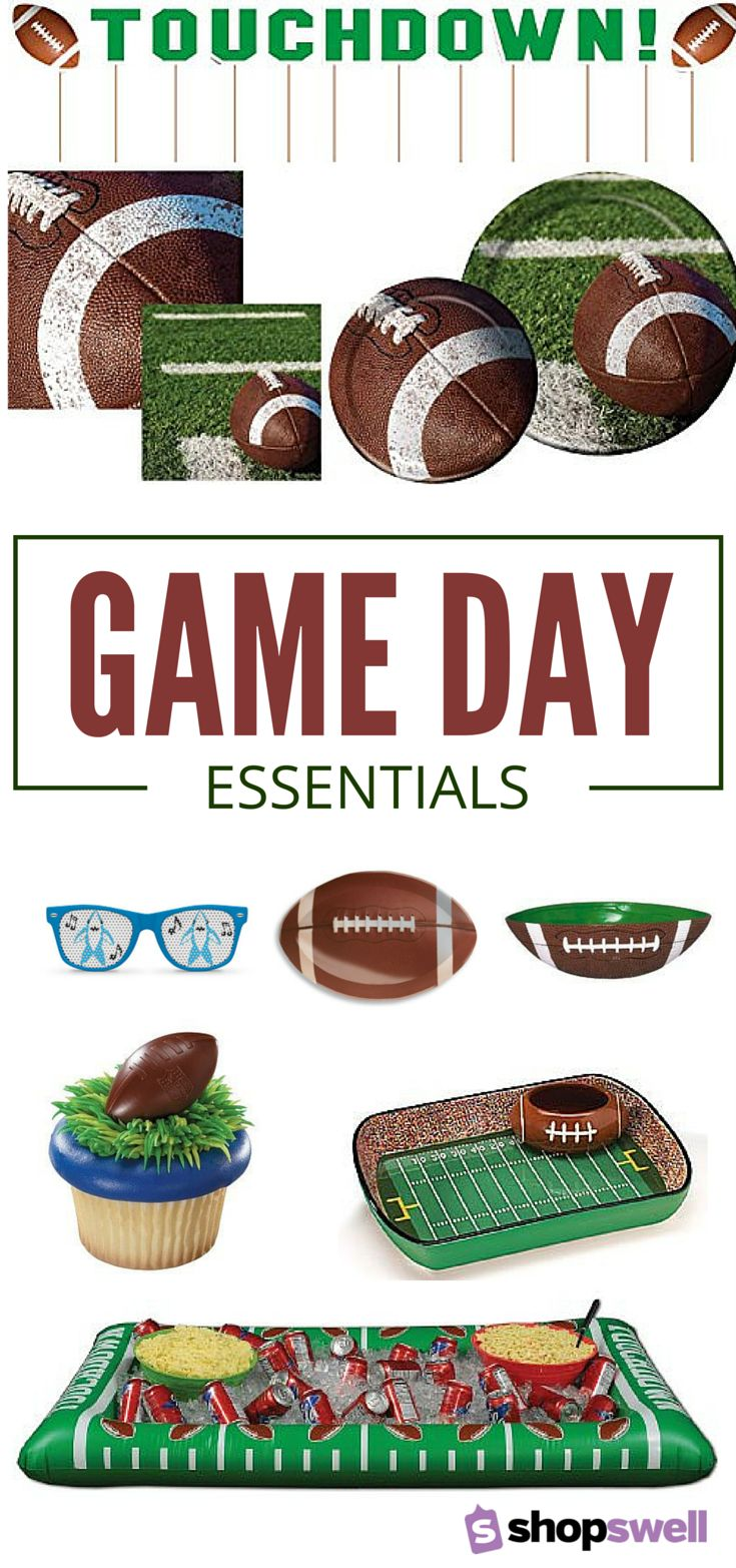 Are you ready for some football?! Create a Super Bowl party your friends will talk about years from now with these great game day essentials.