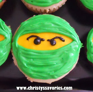 for my favorite little Nin-jaaaaaaGO! :)Lego Ninjago Cupcakes & Cookies