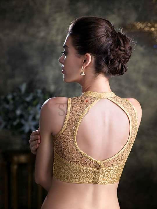 Golden designer blouse