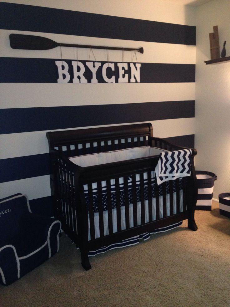Navy White And Grey Boy Nursery