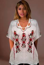 Resultado de imagen para blusas bordadas a mano de cartago valle