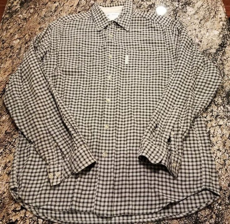 COLUMBIA SPORTSWEAR MEN'S FLANNEL LONG SLEEVE SIZE LARGE PLAID COTTON SHIRT  #Columbia #ButtonFront