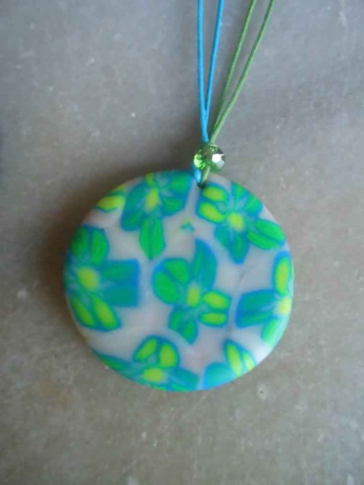 Polymer clay pendant / πολυμερικός πηλός μενταγιόν