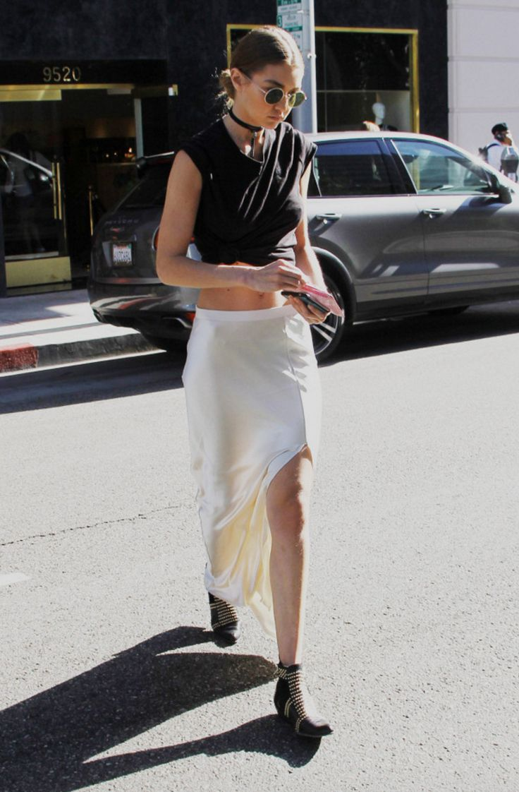 Gigi Hadid | Anine Bing Charlie Boots | Celebrity Fashion and Style
