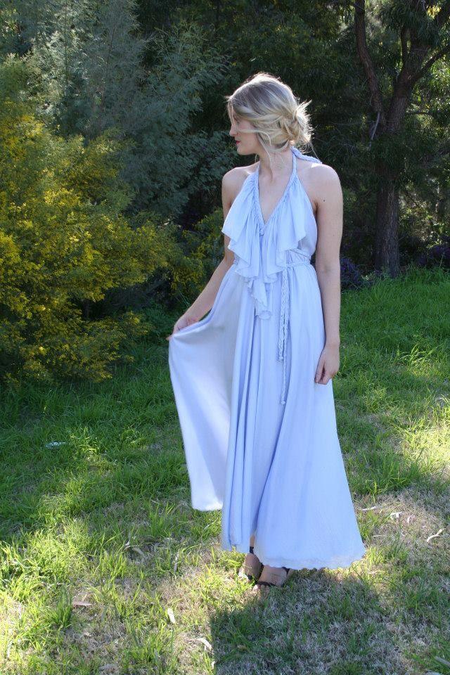 Lisa Brown - Poppy - Bluebell - 100% Silk - Wedding Dress - Bridesmaid Dress - Formal Dress - Evening Dress - Graduation Dress - Frill - Braid - Lace - Australian Designer - Online Boutique - Free Shipping  $639.90