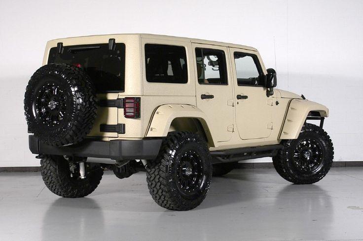 Starwood custom: 2012 Jeep Wrangler Unlimited sport with Matte Sahara tan Kevlar Liner