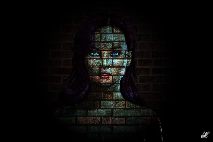 In The Wall, woman, digital art