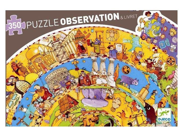 HISTORIA ŚWIATA puzzle na okrągło