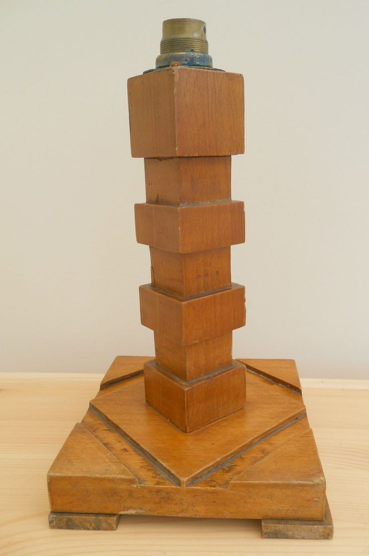 Antique wooden table lamps - Antique Vintage Wooden Art Deco Table Lamp Base Sold On My Ebay Site Lubbydot1