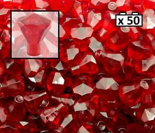 50x Lego Transparent Red Diamond Gems Jewels rock treasure 50 pieces NEW