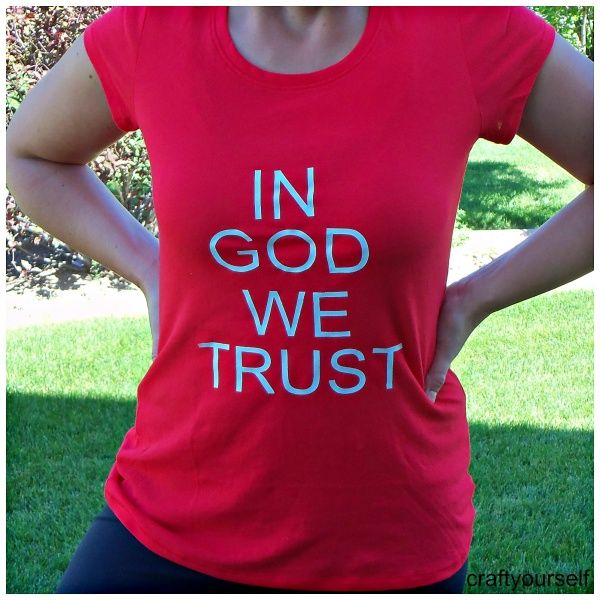 Quick and Easy Fourth of July T-shirt Tutorial - Craft