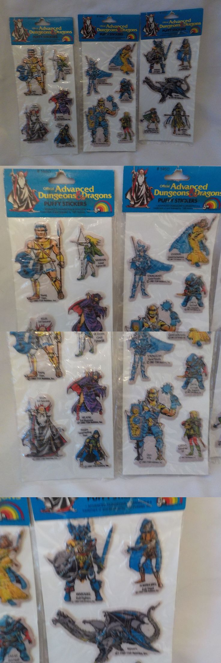 Other Dungeons and Dragons 2545: Rare Tsr Advanced Dungeons And Dragons 3 (5) Packs Puffy Stickers 1460 Sealed 1983 -> BUY IT NOW ONLY: $49.99 on eBay!