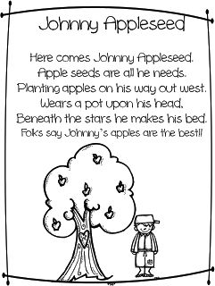 First Grade Wow: Johnny Appleseed = Good Citizenship