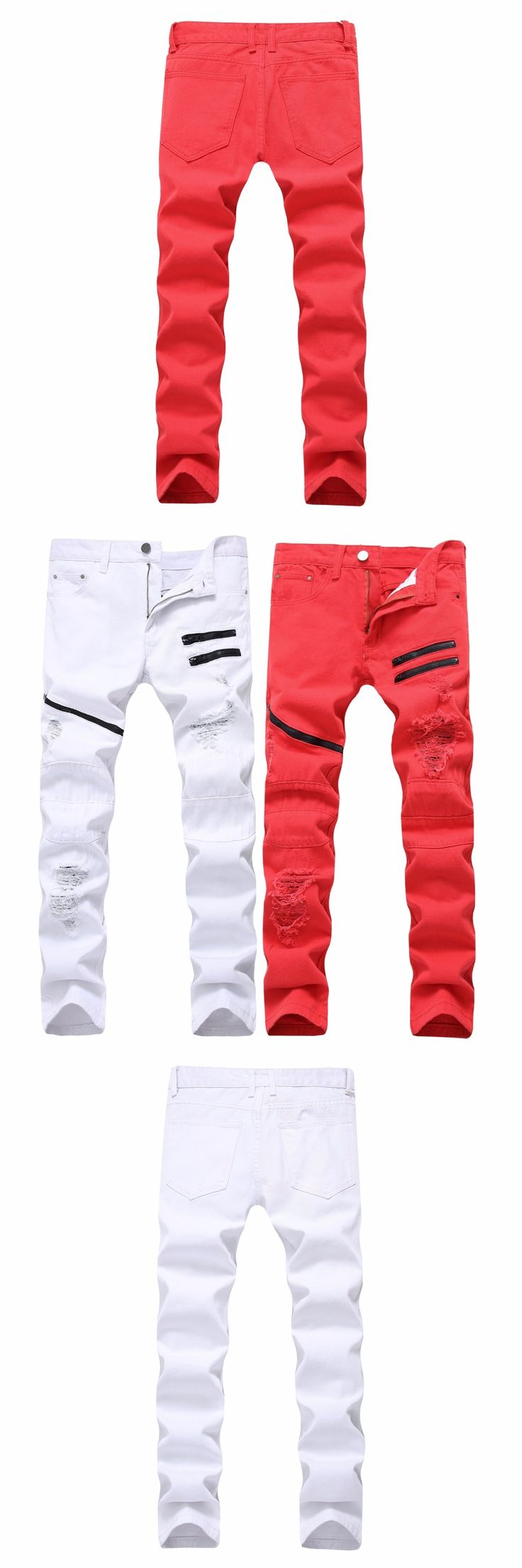2017 Brand Jeans Men Casual Straight Denim Men's Fashion Jeans Slim Denim overall Brands Jean homme Men Hip-Hop Biker Jeans