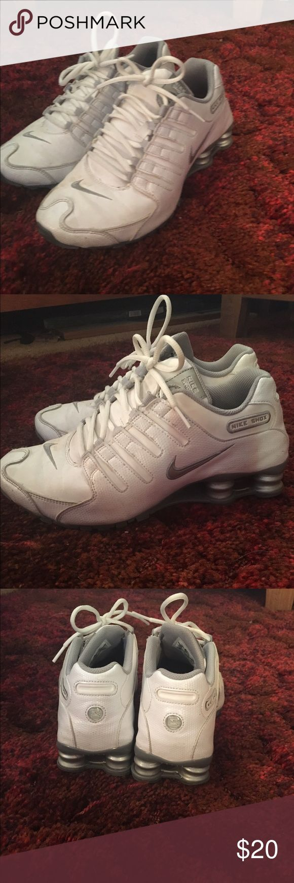 White nike shocks Great used condition still have a lot of life left in them. Nike Shoes Athletic Shoes