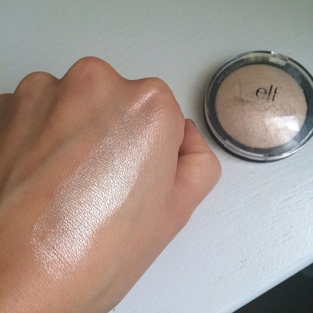 ELF Baked Highlighter in Moonlight Pearls. Follow my instagram @mellyfmakeup