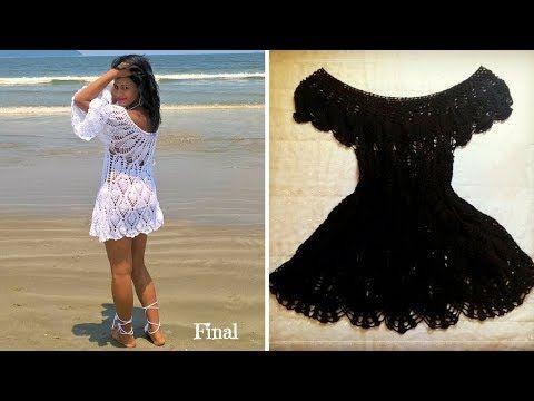 a6b09da5966a Vestido Saída de Praia em Crochê | Parte 3-3 - YouTube | YouTube ...