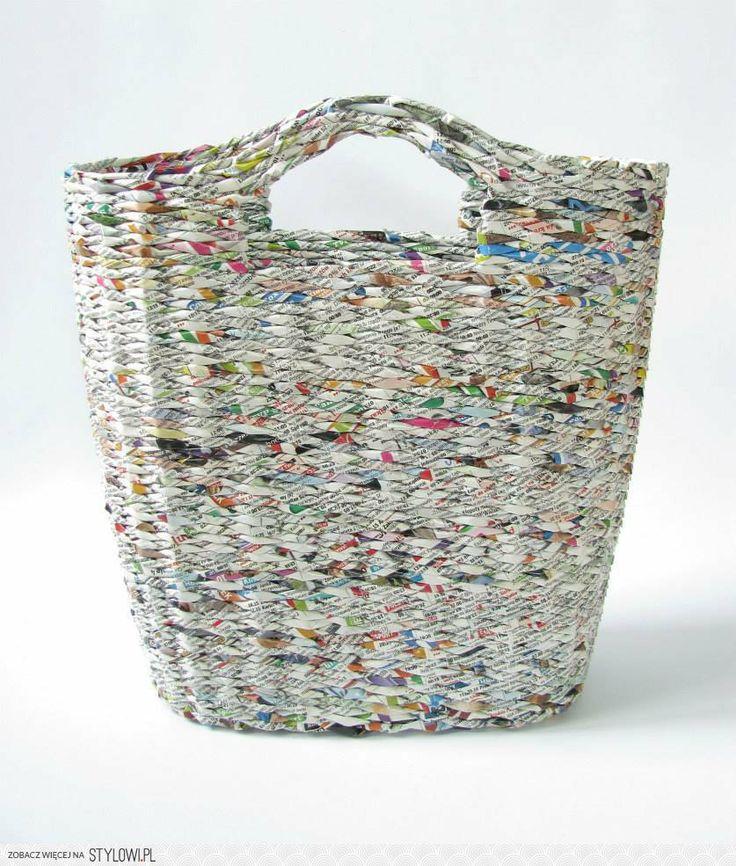 newspaper holder, newspapers, basket - zapleciona