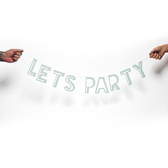 Hippenings Let's party BANNER - ice blue