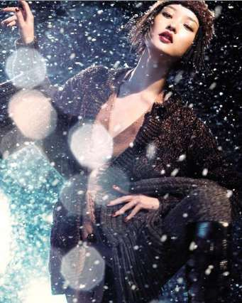 Du Juan 'Winter Wonderland' shoot for Vogue China December 2010