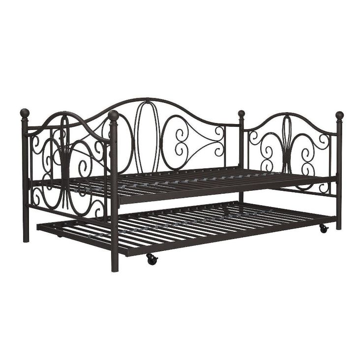 Ayamastro 77 5 Metal Daybed Daybed With Trundle Metal Daybed