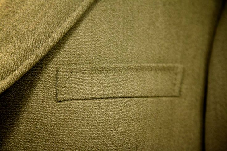 Pocket detail from our traditional Covert Coat, made for one of our Viennese clients.