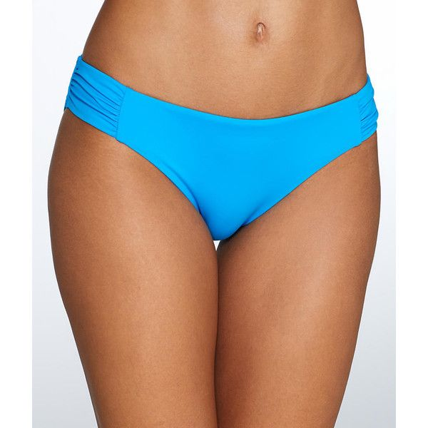 Sunsets French Blue Shirred Bikini Bottom (72 CAD) ❤ liked on Polyvore featuring swimwear, bikinis, bikini bottoms, swim bottom, women, bottom bikini, ruched bikini, sunset bikini, swim bikini and ruched bikini bottoms swimwear