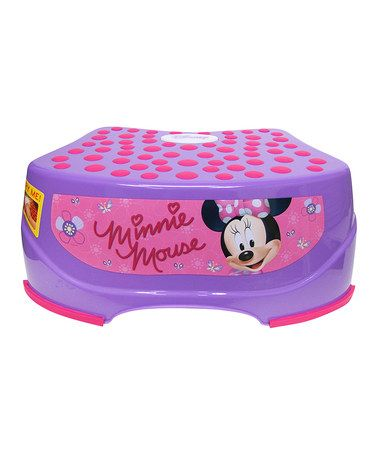 This Minnie Mouse Step 'n' Glow Step Stool is perfect! #zulilyfinds