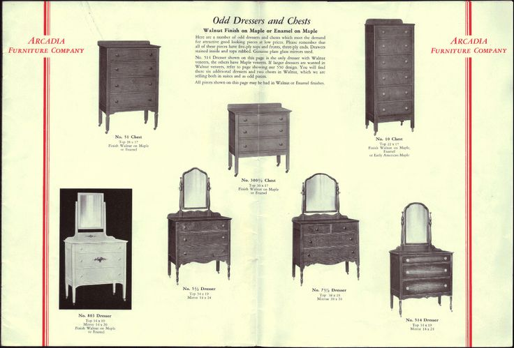 1930 Style Bedroom Furniture Arcadia Furniture Company 1930 Catalog Period And Decor Styles