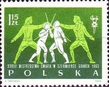 1963 The 28th World Fencing Championship in Gdansk