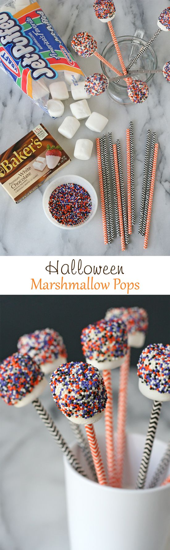 Halloween Marshmallow Pops - So simple and so cute!