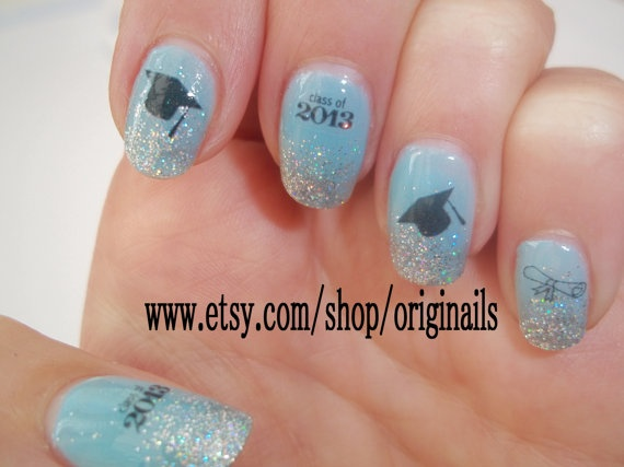 Graduation nail tattoos by originails on Etsy, £2.00 - 27 Best Graduation Nails Images On Pinterest Graduation Nails