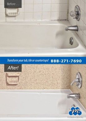 Don't replace - refinish! : Plastic Bathtub Refinishing - Do you need plastic bathtub refinishing? Is your plastic tub surface dull, chipped or cracked? Miracle Method provides the best plastic bath tub refinishing.