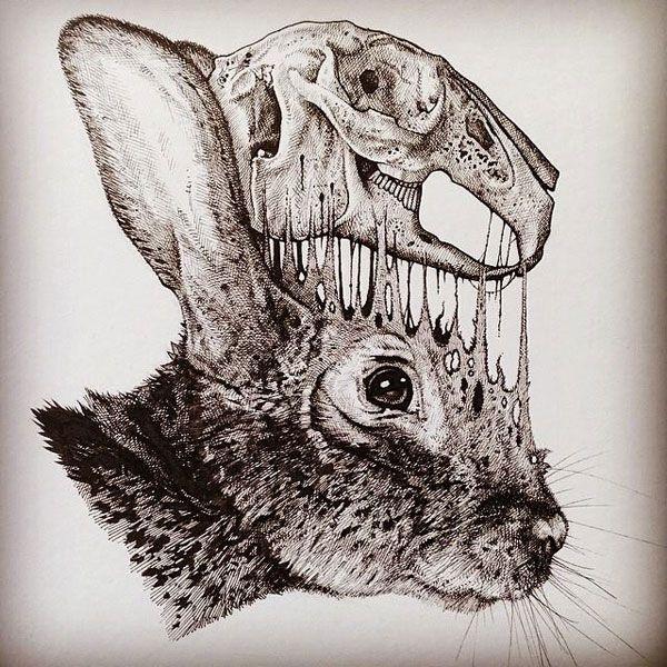 eerie-gruesome-gothic-black-white-animal-skull-art-paul-jackson-13