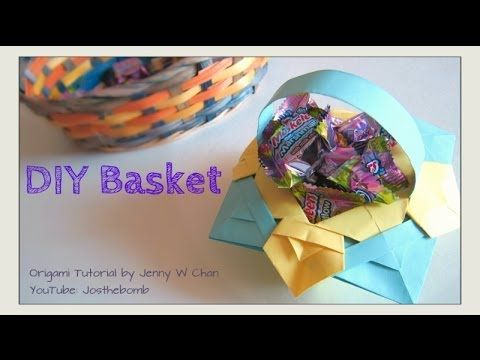 Do it yourself crafts for kids diy easter basket how to fold diy easter basket how to fold origami basket easter crafts paper crafts kids with do it yourself crafts for kids solutioingenieria Choice Image