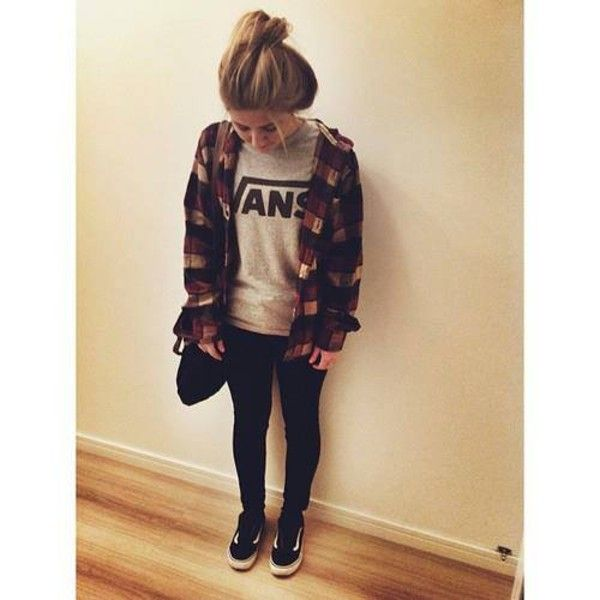 vans sneakers outfit - Google Search