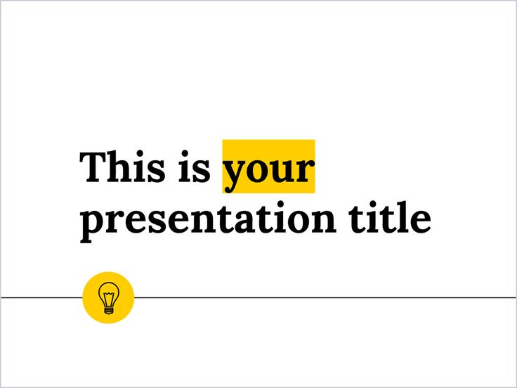 With a style suitable for any theme and content, this free presentation template adapts easily to any brand by changing one single color
