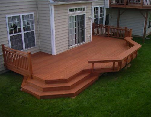 Going to enlarge the back deck and open a portion to step down into the back yard. I like this idea, but it would need to be bigger to accommodate the hot tub.